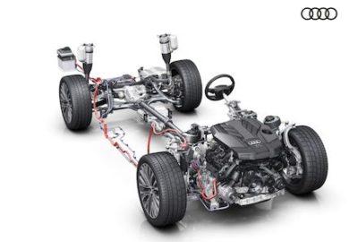 Zelektryfikowany układ napędowy w nowym Audi A8