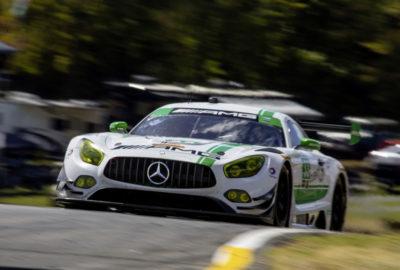 Wyścigowy Mercedes-AMG GT na torze Road Atlanta