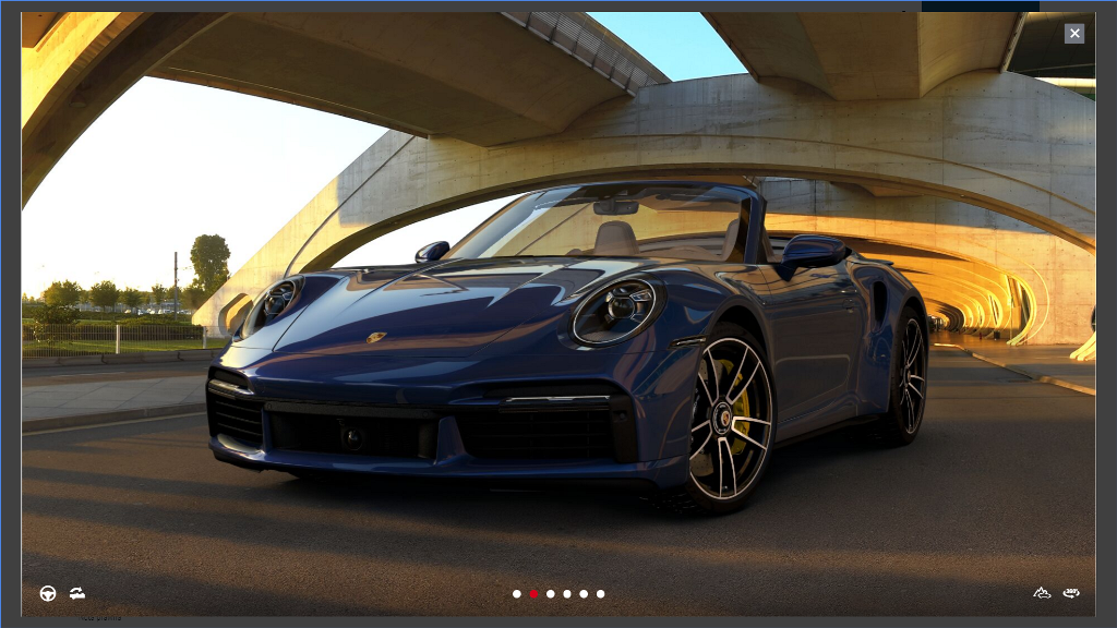 Przykładowy konfig nowego 911 Turbo S Cabriolet